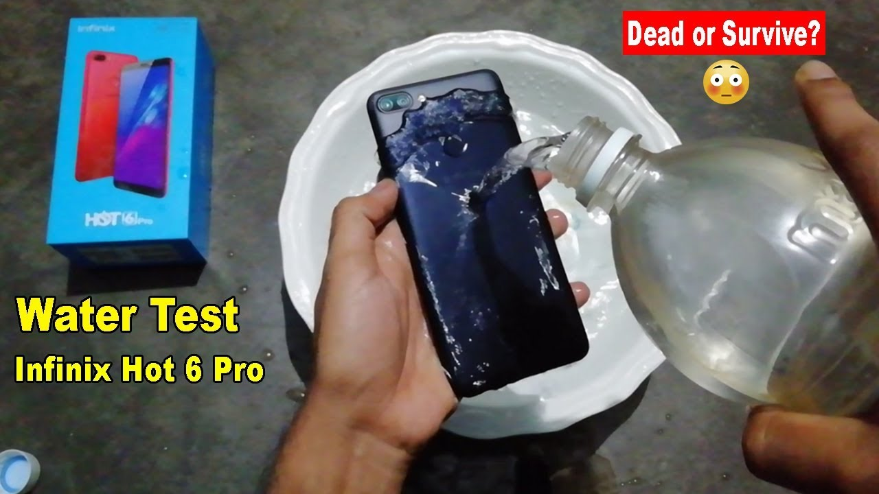 low priced 5cd13 6c6d6 WATER TEST Infinix Hot 6 Pro - Will it Dead or Survive??
