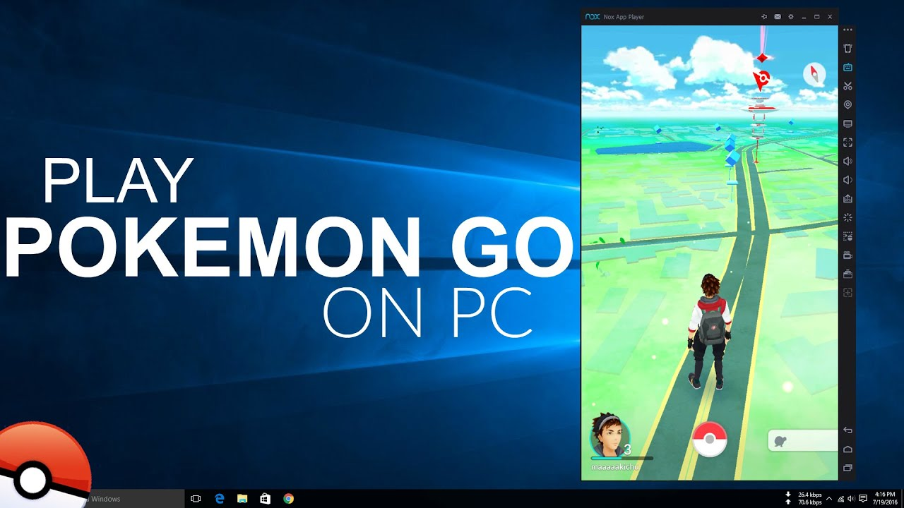 how to run pokemon go on pc