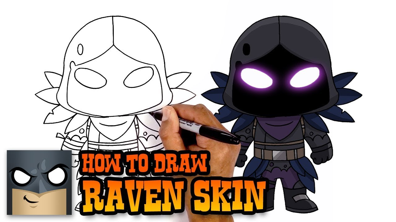 How To Draw Raven Fortnite Art Tutorial Youtube