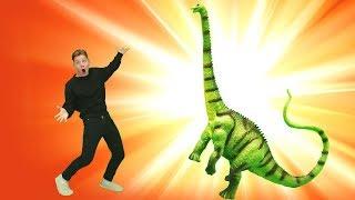 Динозавр ОЖИВАЕТ. Видео для детей про динозавров