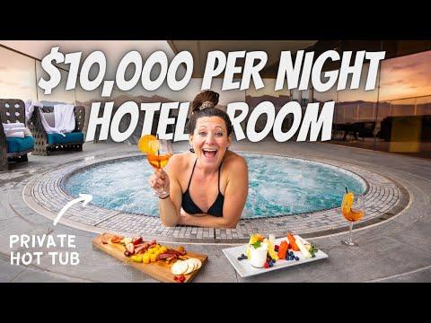 SLEEPING IN A $10,000 PER NIGHT PENTHOUSE