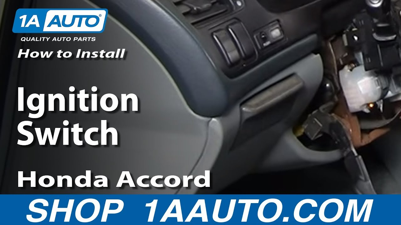 How To Install Replace Ignition Switch Honda Accord Prelude Acura Tl 1999 Starting Problems Cl 94 98 1aautocom