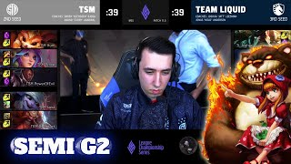 TL vs TSM-게임 2 | 준결승 LCS 2021 Mid-Season Showdown | TSM vs Team Liquid G2 제품 판