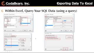 Learn how to export epicor data excel.