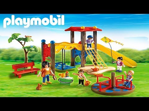 Playmobil City Life! Playground Unboxing and Playing, Outdoor Playmobil Park