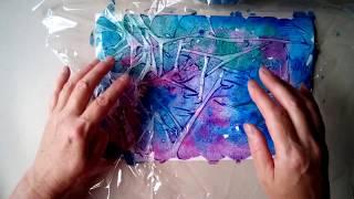 как сделать «кристаллическую мраморную» бумагу