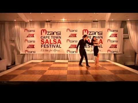 Natalie Becker and Aaron Cumpsty perform at Cape Town Salsa Festival 2013