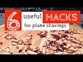 Useful Hacks for Wood Plane Shavings | Hand-Tool Woodworking Tips