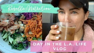 DAY IN THE LIFE VLOG/What I eat in a day LA - Rebelle Nutrition