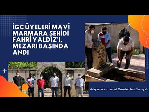 İGC yönetimi Mavi Marmara şehidi Fahri Yaldız'ı mezarı başında andı