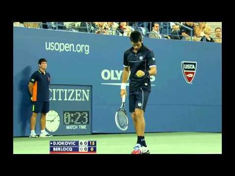 US OPEN 2011 R2 Djokovic vs Berlocq PART 1/2