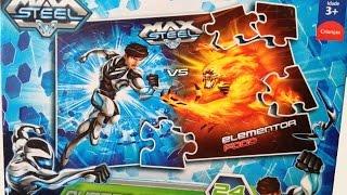 Max Steel Vs. Elementor Fogo Puzzle Mattel Games Quebra-Cabeça