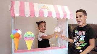 FamousTubeKIDS Pretend Play With Ice Cream Cart