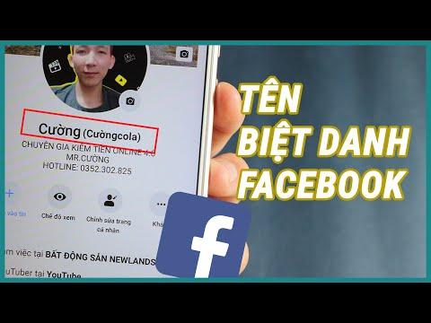 Thêm tên biệt danh trên facebook cá nhân   Ghiền smartphone