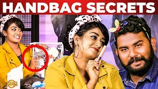 NAIL POLISH Godown Inside Vijay TV Rhema Ashok's Handbag | What's Inside the HANDBAG | Vj Ashiq