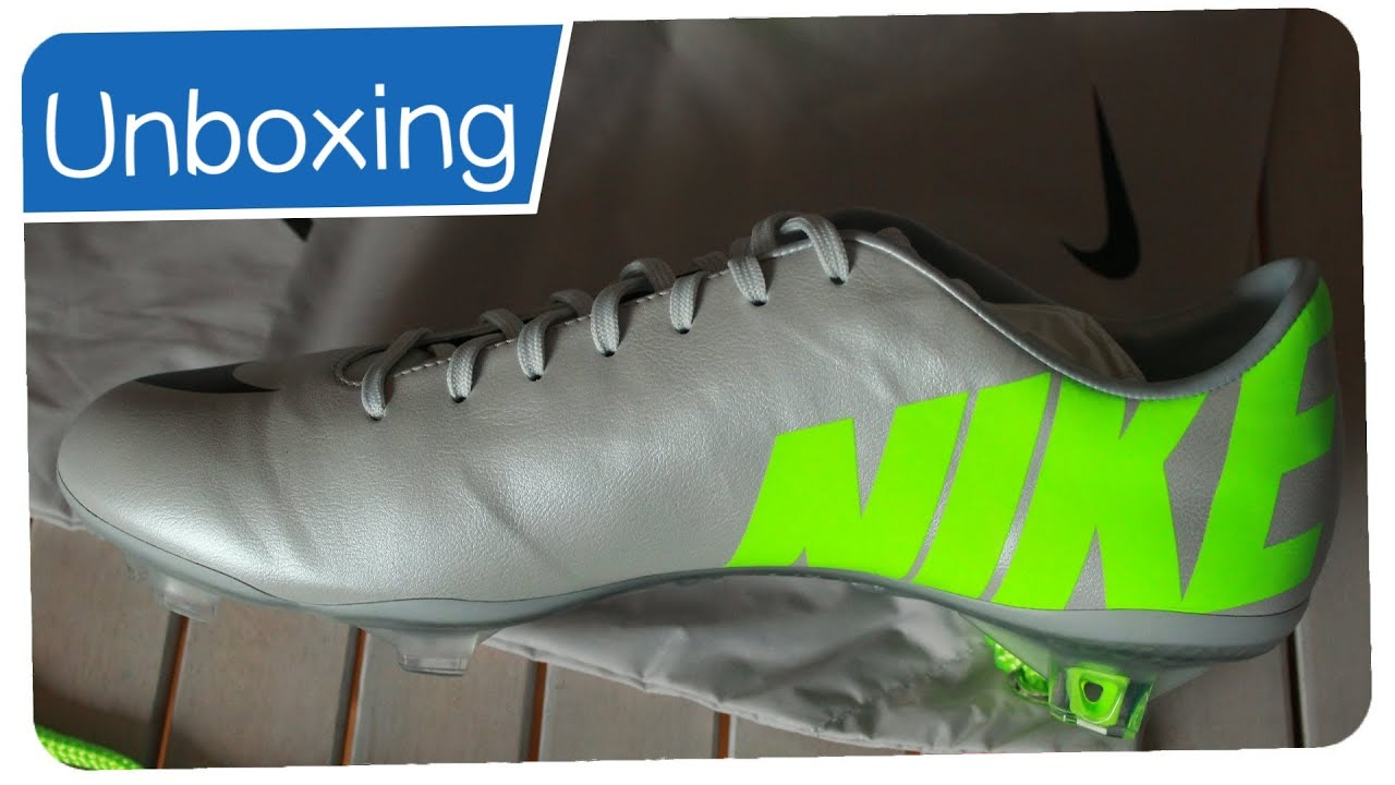 Nike Mercurial Vapor IX Silber Silver FG LEATHER - Unboxing - YouTube 1d5fa8f02cb86