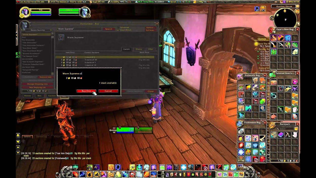 World of Warcraft Addons [5] - Auctionator - YouTube