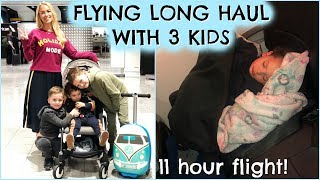 OUR LONGEST FLIGHT EVER WITH KIDS & SURPRISE TRIP!  FLYING LONG HAUL WITH KIDS