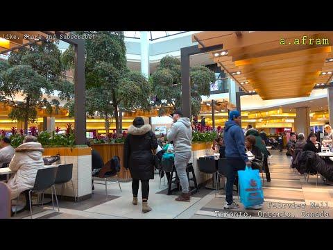 Walking Tour of Fairview Mall Shopping Centre Toronto Ontario Canada 4K