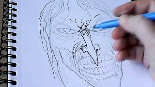 Drawing A Witch Mask Part 1 - Sketching