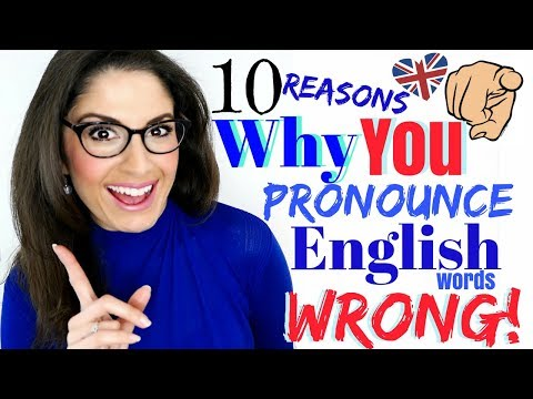 Why YOU Mispronounce English Words WRONG | Correct your Pronunciation