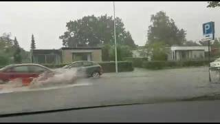 Veel wateroverlast door wolkbreuk in Drachten