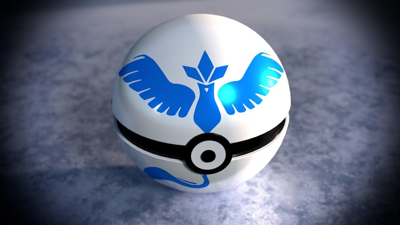 Blender Timelapse Pokemon Go Wallpaper Team Mystic