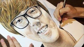 色鉛筆でヒカキンさん描いてみた | Drawing Hikakin