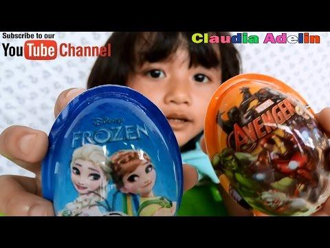 UNBOXING TOY IN EGG Like Kinder joy. Review maianan dan makanan anak Coklat