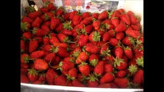 Клубника на зиму как с грядки.How to prepare strawberries for the winter