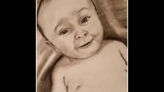 Charcoal Drawing of Baby Boy