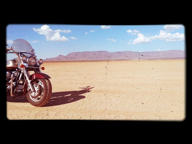 Motorcycle Camping Arizona Dry Lake Bed