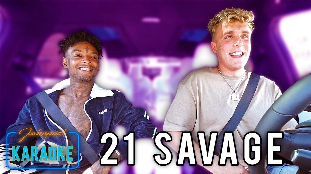 21 Savage Carpool Karaoke With Jake Paul Youtube