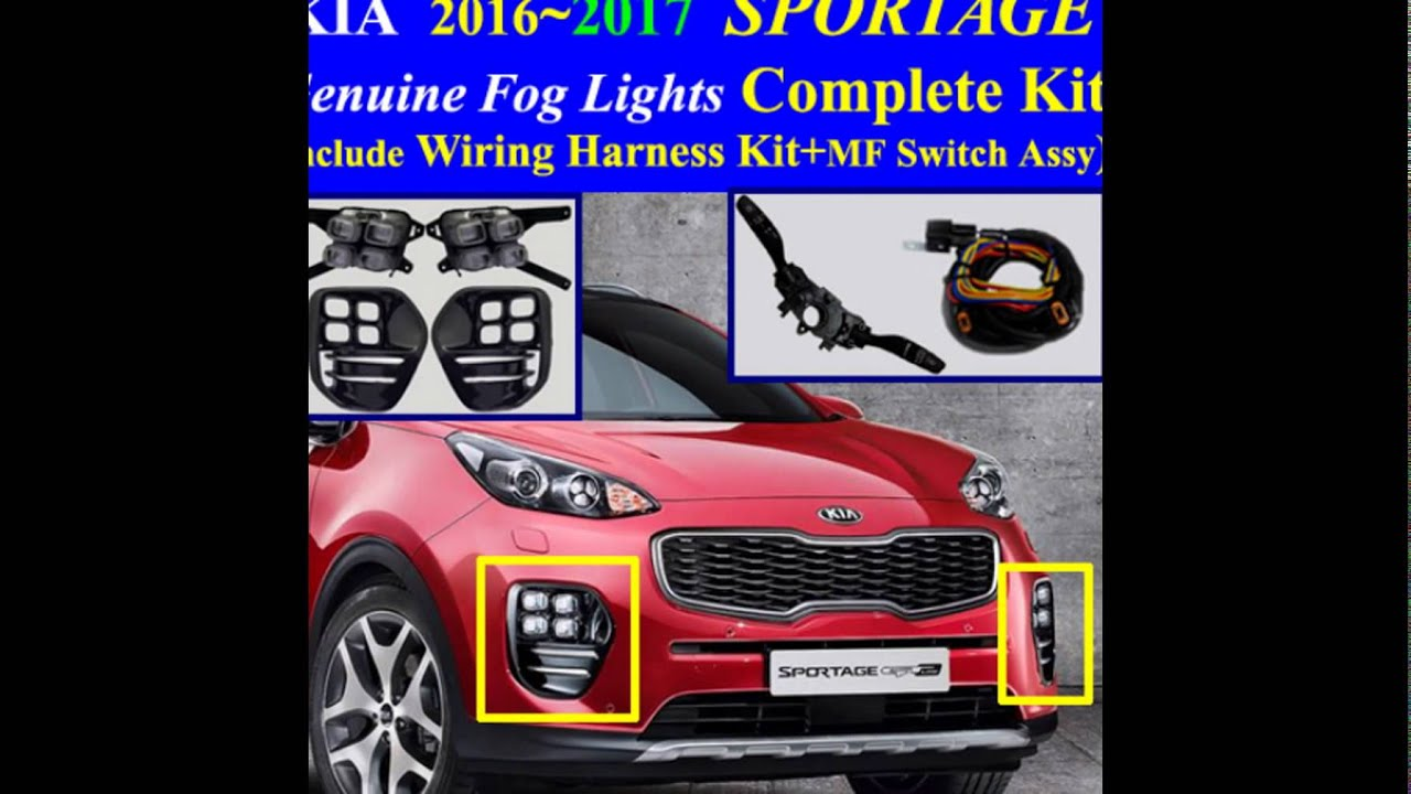 Kia Sportage Wiring Harness Solutions Harnesses 2018 Led Fog Light Lamp Complete Kit
