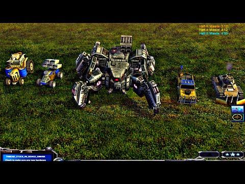 Giant Spider Robot Vs GLA Assault General | Contra Mod 2020 | C&C : Zero Hour