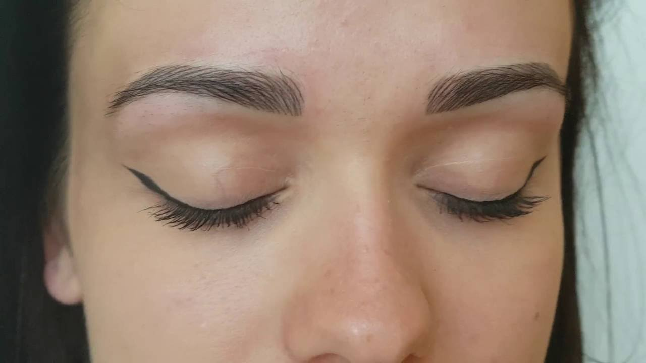 Microblading Makijaż Permanentny Brwi Metoda Piórkowa Porównanie