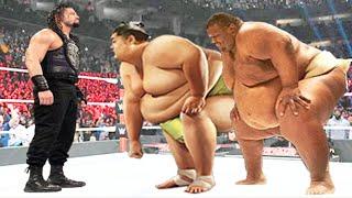 Roman Reigns vs Sumo Wrestler & Sumo Emmanuel Yarborough