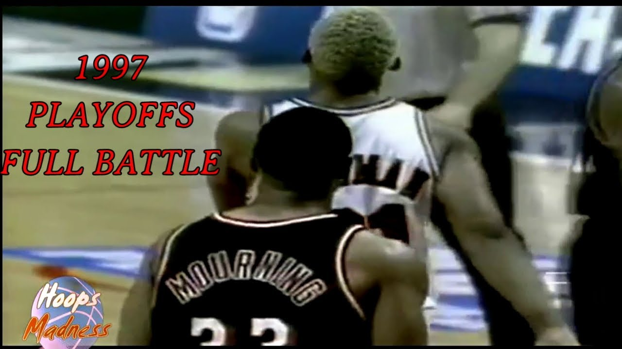 Dennis RODMAN vs Alonzo MOURNING s Full BATTLE in 1997 NBA Playoffs ... c30e1853b