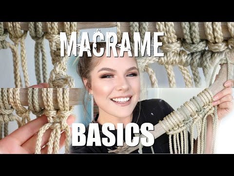 HOW TO: Macrame Basics | Larks Head, Square Knot, Spiral Stitch, Double Half Hitch thumbnail
