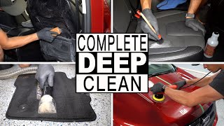 COMPLETE INTERIOR EXTERIOR CAR DETAILING // Paint Polishing and Full Car Cleaning of a Ford Edge!