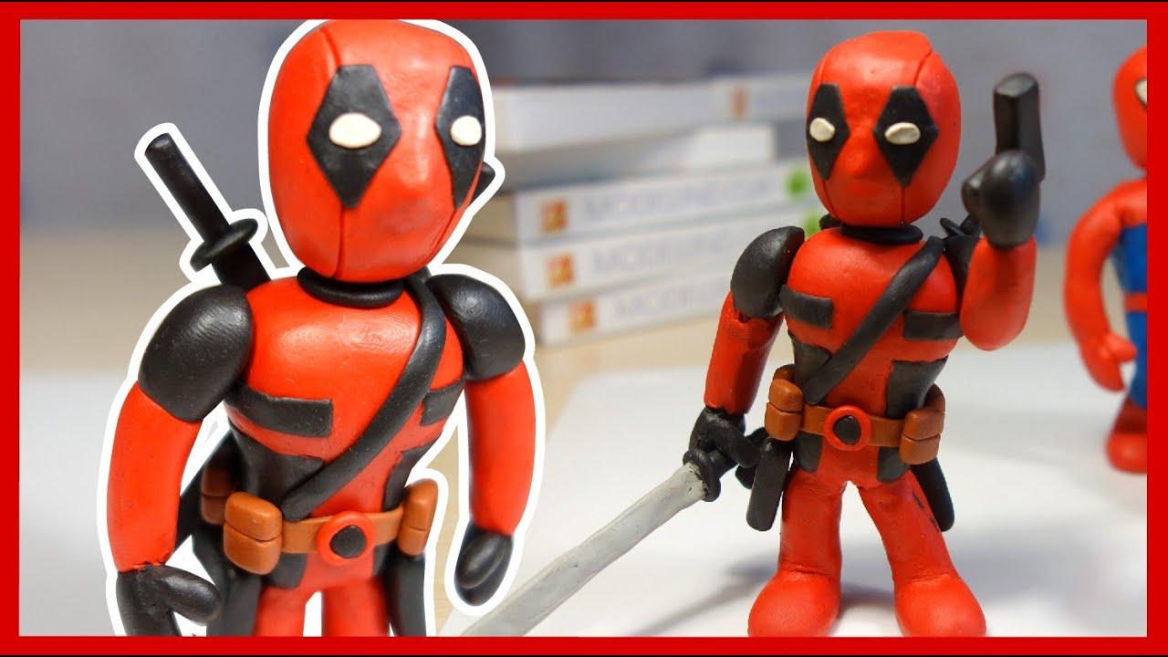 Дэдпул из пластилина. Лепим Дэдпула. Киндер Сюрприз. Deadpool made of plasticine. Kinder Surprise.
