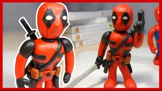 Дэдпул из пластилина. Лепим Дэдпула. Киндер Сюрприз. Deadpool made of plasticine. Kinder Surprise.