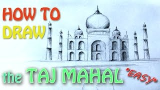 How to draw the Taj Mahal - India world
