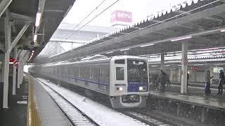 西武鉄道6114F 06M上り回送 所沢通過