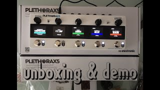 TC ELECTRONIC PLETHORA X5: UNBOXING & Factory Presets DEMO