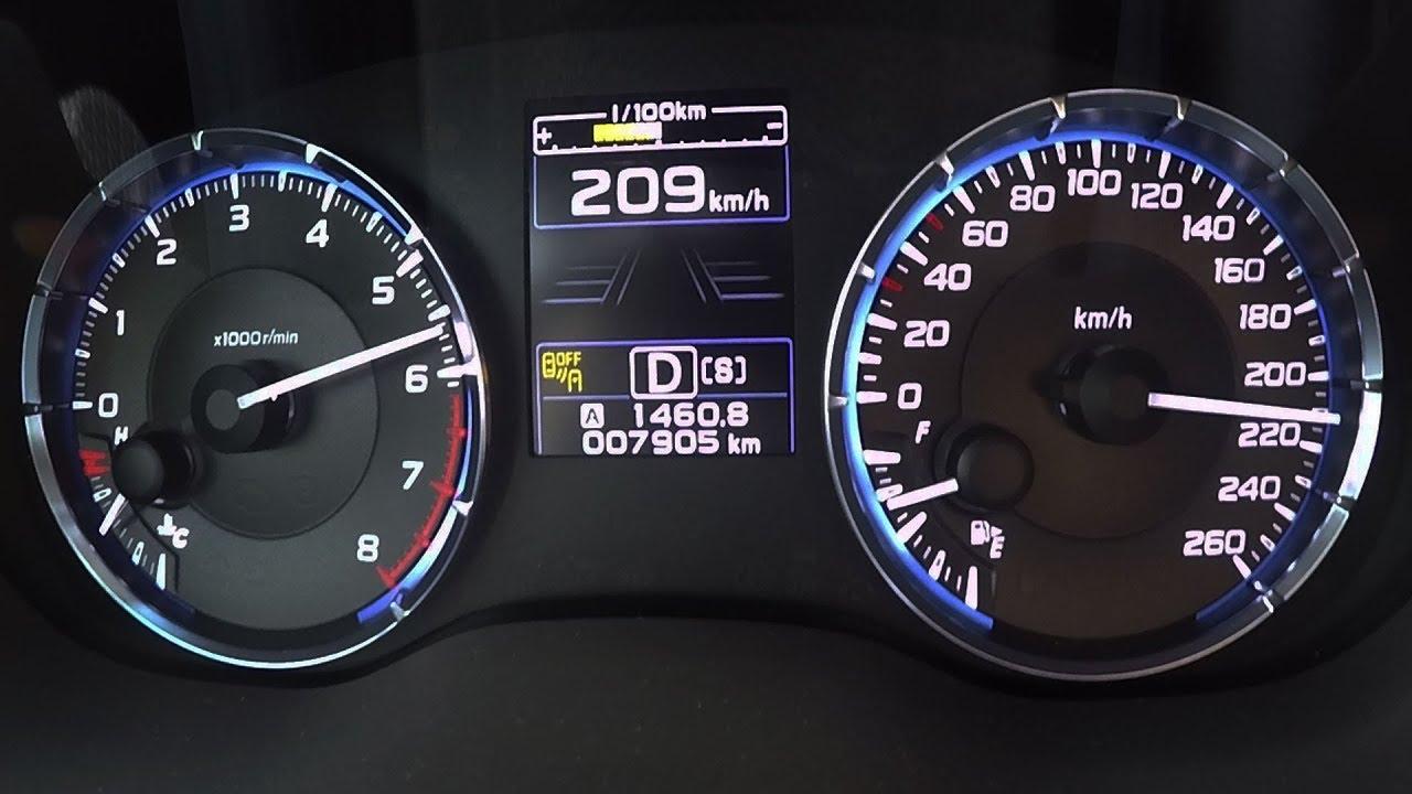 2017 Subaru Levorg 1 6gt 0 100 Kmh Kph 60 Mph Tachovideo Beschleunigung Acceleration