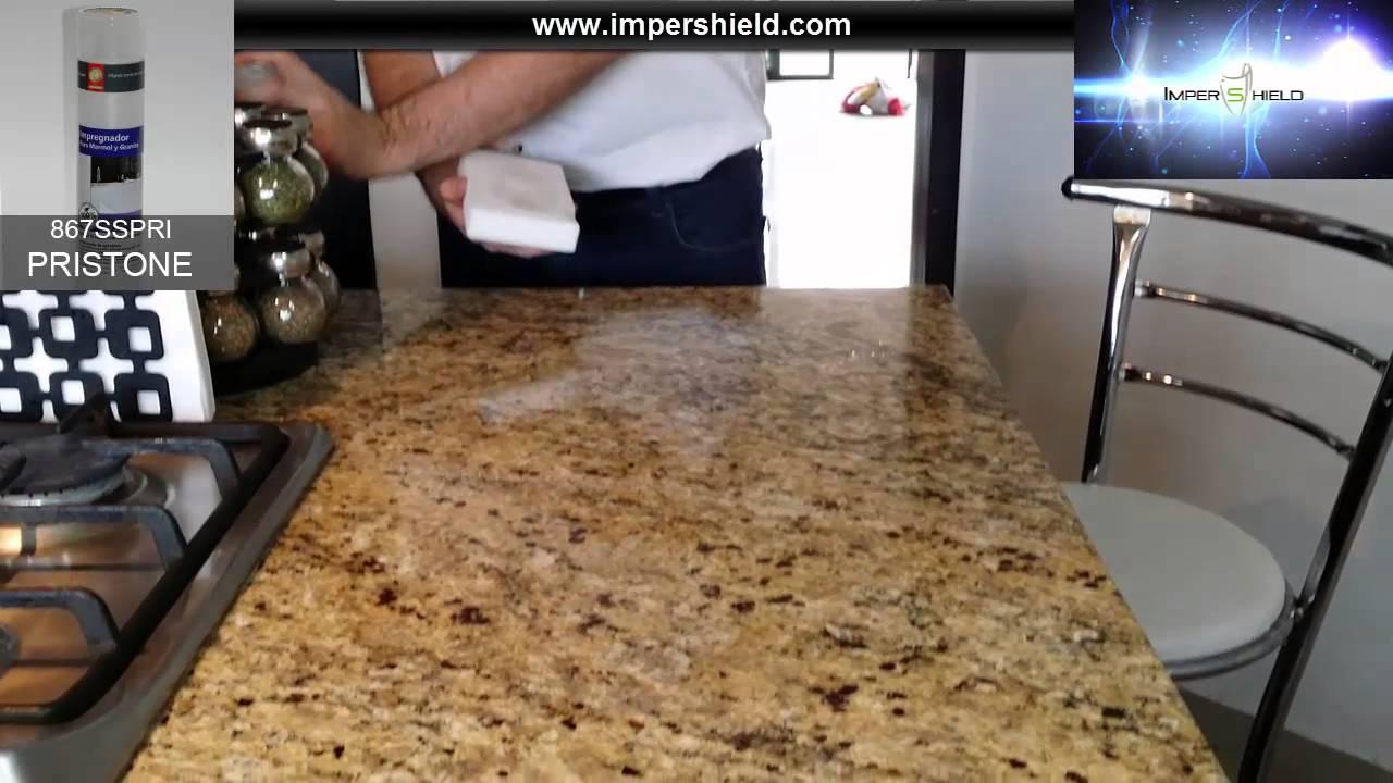 Sellador para marmol y granito pristone impershield for Cera para pisos de marmol