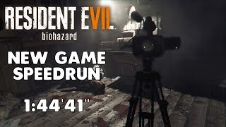 """Resident Evil 7 - Any% Speedrun - 01:44:41"""" [World Record]"""