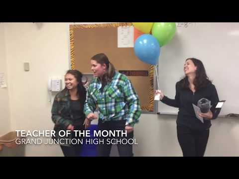 Student Surprises Teacher of the Month:Grand Junction High School