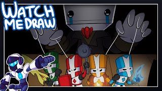 Watch Me Draw : Battleblock Theater & Castle Crashers | Speed Art